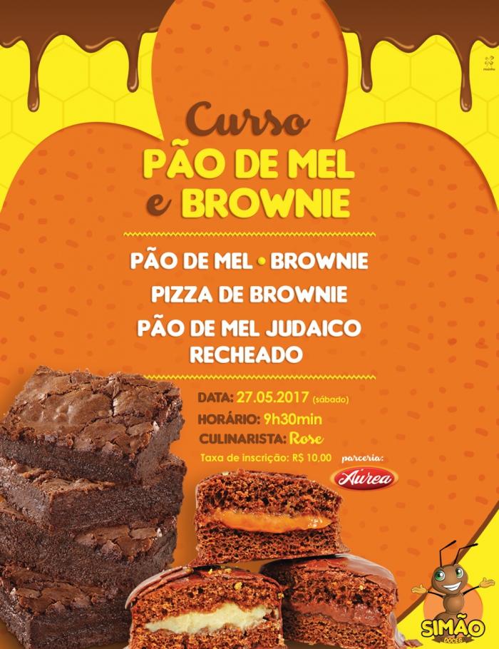 Pão de Mel e Brownie