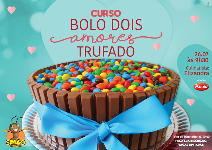 CURSO ESPECIAL BOLO DOIS AMORES TRUFADO
