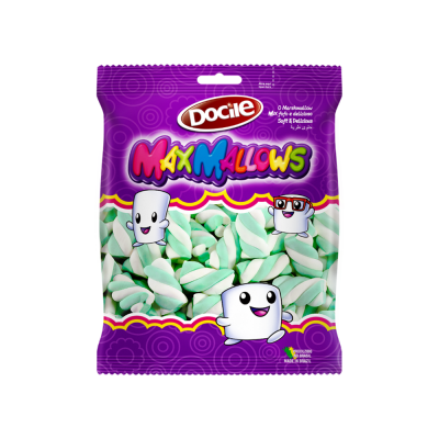 Docile Maxmallows Twist Verde/branco 250gr