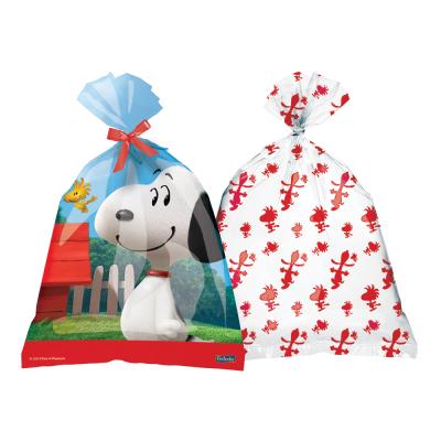 Sacola  Surpresa De Plastico C Estampa Do Snoopy