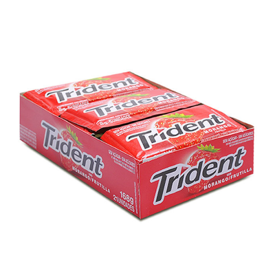 Mondelez Trident Morango 168gr 21un