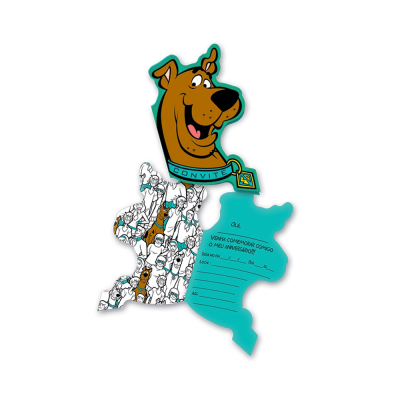 Festcolor Convite Scooby Doo 2017